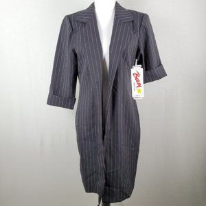 VTG Betsy New York Open Blazer Coat Jacket 80-90's